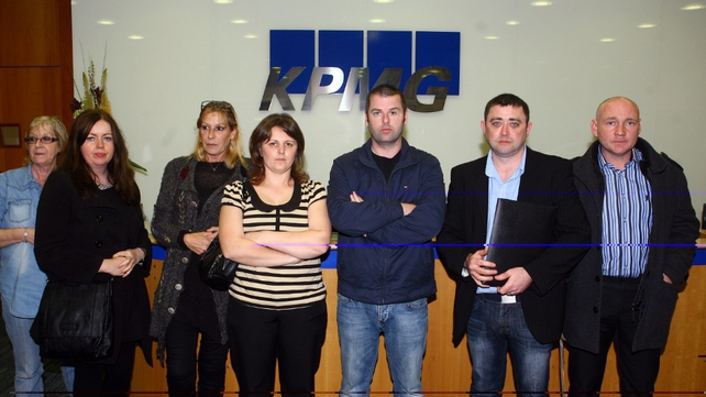 IBRC mortgage holders are staging a sit-in at KPMG's Dublin offices