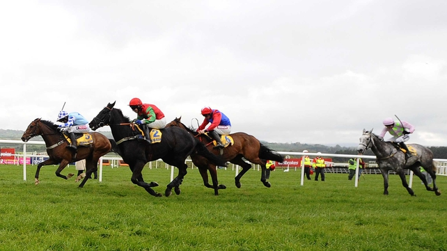 God's Own recorded his very first win over fences in the Grade One Ryanair Novice Chase