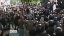 Ukrainian separatists attack riot police in Donetsk