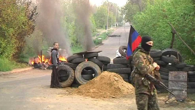 They set fire to one tyre barricade outside the town
