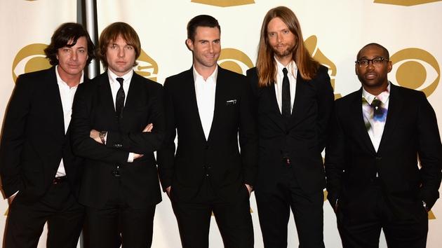 Matt Flynn, Jesse Carmichael, Adam Levine, James Valentine and PJ Morton of Maroon 5