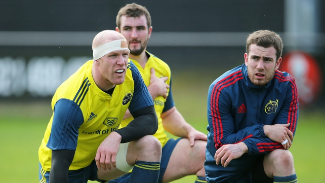 Paul O'Connell, James Cronin and JJ Hanrahan will be looking to combine effectively for Munster