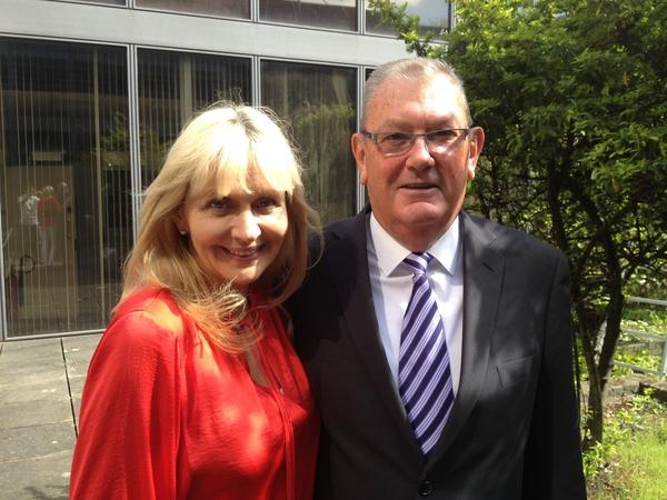 Miriam with Ben Dunne