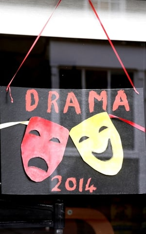 Athlone is painted red as the Drama Festival  gets underway