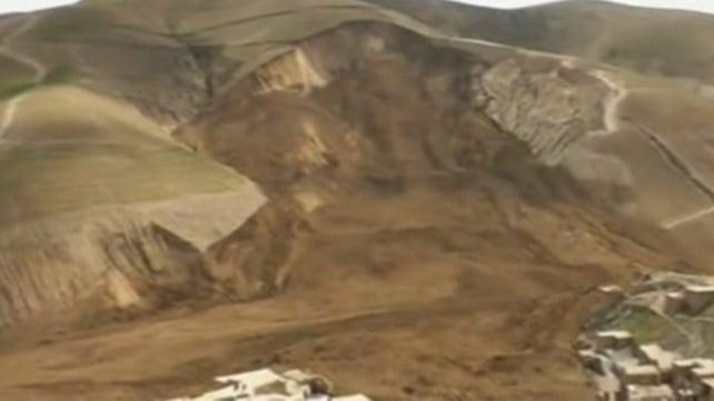 The landslide destroyed a village in northeastern Afghanistan