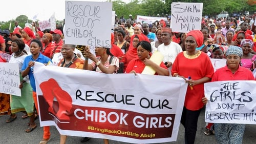 The girls were abducted nearly three weeks ago in the town of Chibok
