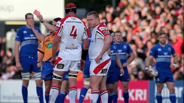 Tom Court was sent off in the 17th minute of Ulster's defeat to Leinster