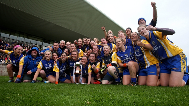 The Roscommon team celebrate winning