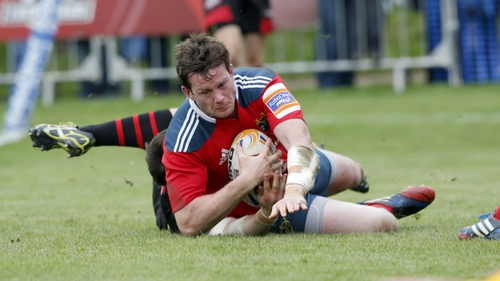 Munster's Denis Hurley scores his side's second try