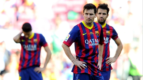 Lionel Messi's face says it all after Getafe's late equaliser