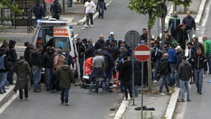 Supporter shot in clashes ahead of the final