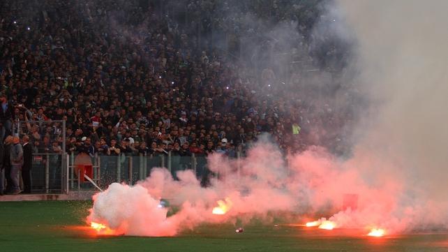 Coppa Italia final had kick off delayed due to crowd unrest