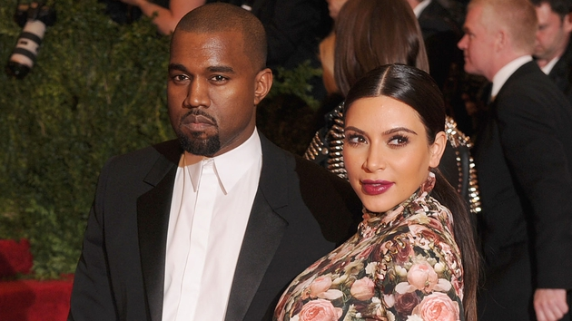 Kanye West and Kim Kardashian at the 2013 Gala