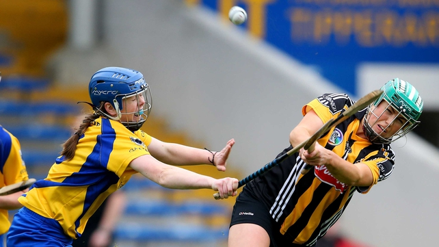 Kilkenny's Miram Walsh and Maire McGrath of Clare