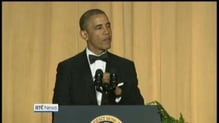 Obama jokes about media, opponents
