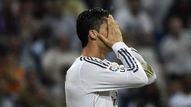 Cristiano Ronaldo had a frustrating evening but managed to level the game in stoppage time