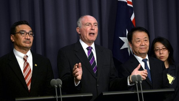 Australia hosted a meeting in Canberra with the transport ministers of Malaysia and China