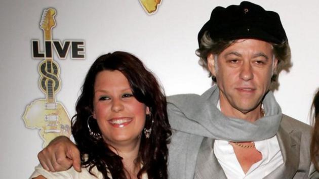Fifi with her dad Bob Geldof