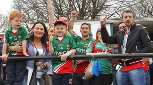 Mayo fans at the game