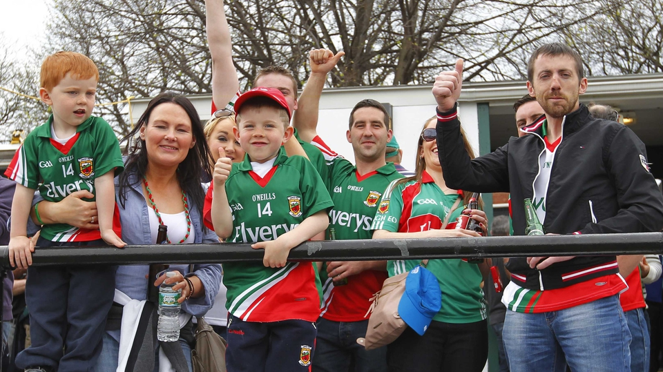 Mayo fans gather ahead of the game