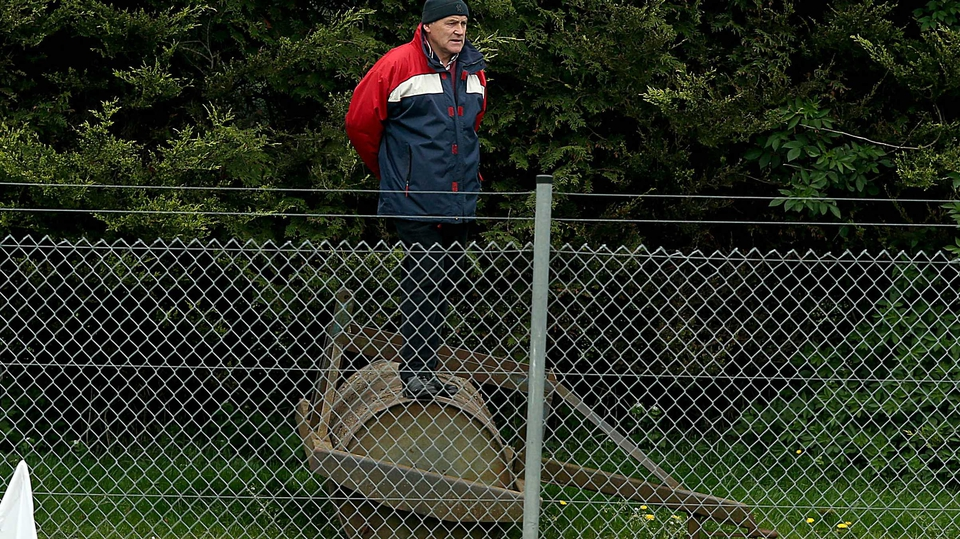 A Cork camogie fan looks on during their game with Down in Clane