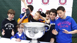 Young New York fans got up close with Sam Maguire