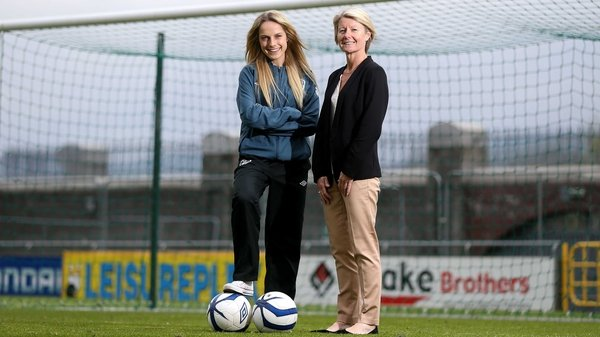 Ireland's Julie Ann Russell and manager Sue Ronan
