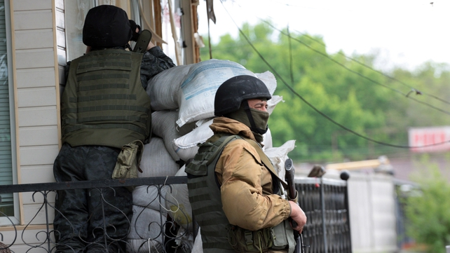 The Ukrainian military began its operation in Slaviansk last week
