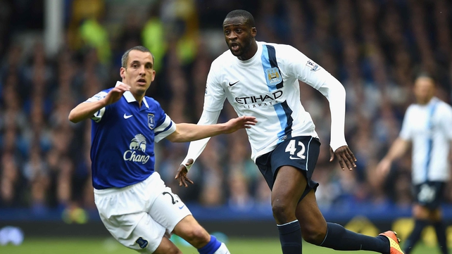 Yaya Toure was forced off against Everton