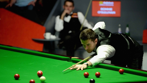 Mark Selby produced a brilliant break in the final frame to seal the win
