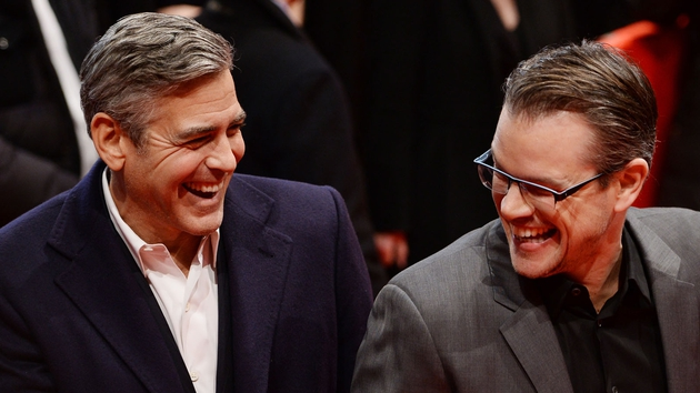 Close friends and co-stars George Clooney and Matt Damon