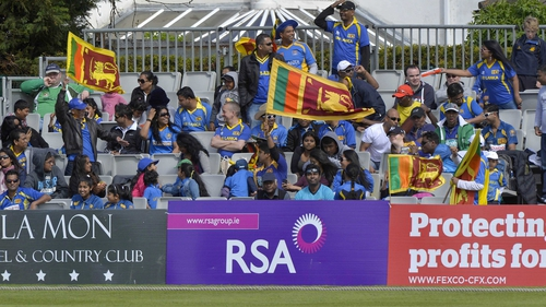 Sri Lanka fans brought colour to an overcast Clontarf