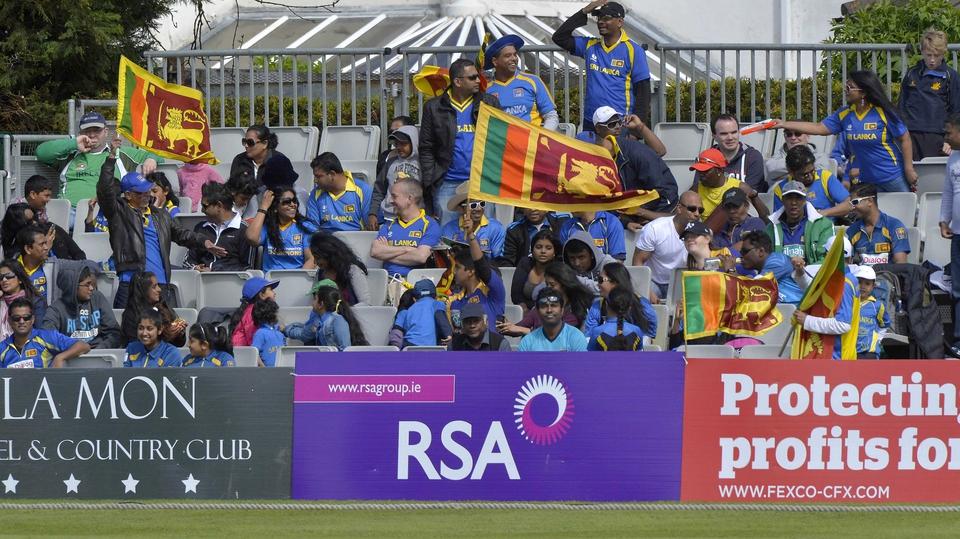 Sri Lanka fans brought colour to an overcast Clontarf