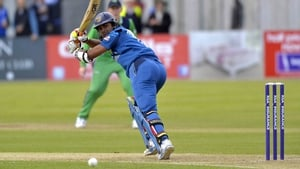 Dinesh Chandimal of Sri Lanka gets some runs on the board