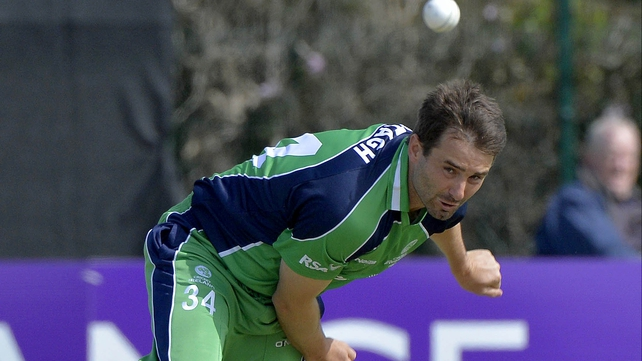 Tim Murtagh took two wickets for Ireland at Castle Avenue