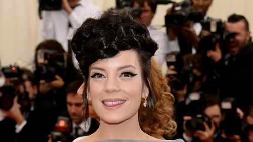 Lily Allen took plenty of selfies at the Met Ball