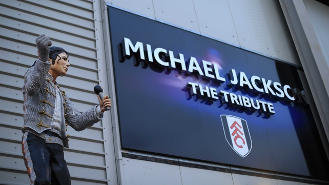 The Michael Jackson statue that formerly stood outside Craven Cottage