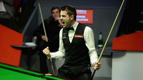 Mark Selby celebrates his win in last year's final against Ronnie O'Sullivan