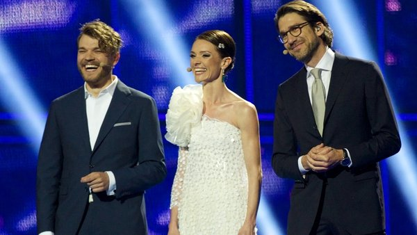 Pilou Asbaek, Lise Ronne and Nikolaj Koppel give it socks with the 12 Point Song