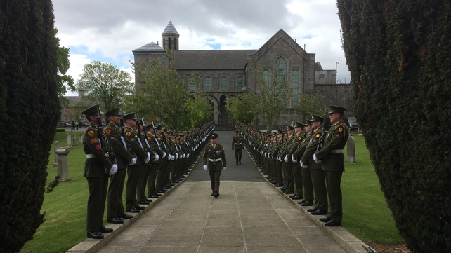 The commemoration began with mass in Arbour Hill church with an inter-faith ceremony