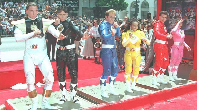 The Mighty Morphin Power Rangers at Mann's Chinese Theater in Hollywood in 1995