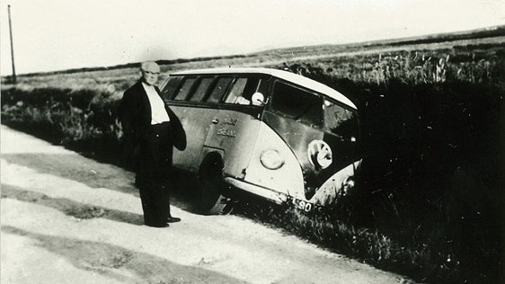 'In the Ditch' RTÉ MRU in Doolough, Co. Mayo, 1958