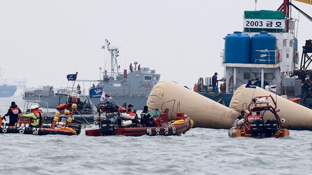 More than 300 people died after the ferry Sewol capsized on a routine trip on 16 April