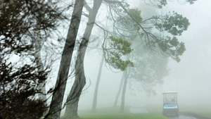 Mist and clouds delayed the start of the Madeira Islands Open in Portugal