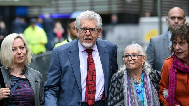 Rolf Harris was accompanied by his wife Alwen and other family members