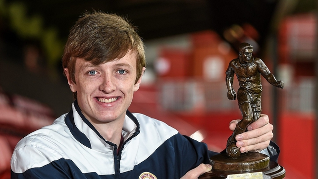 Chris Forrester with his award
