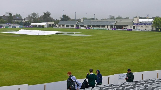 The grey skies forced the cancellation of Thursday's game