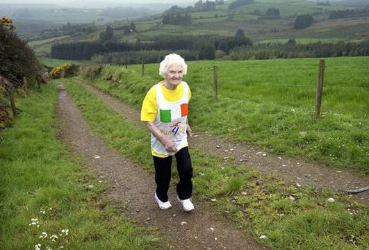 Maureen Armstrong - 89 yr old mini-marathon runner