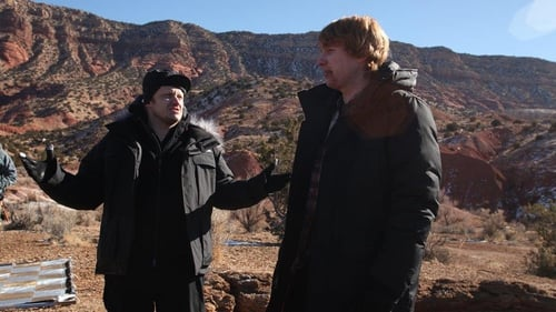 Director Lenny Abrahamson and actor Domhnall Gleeson, pictured on the set of Frank.