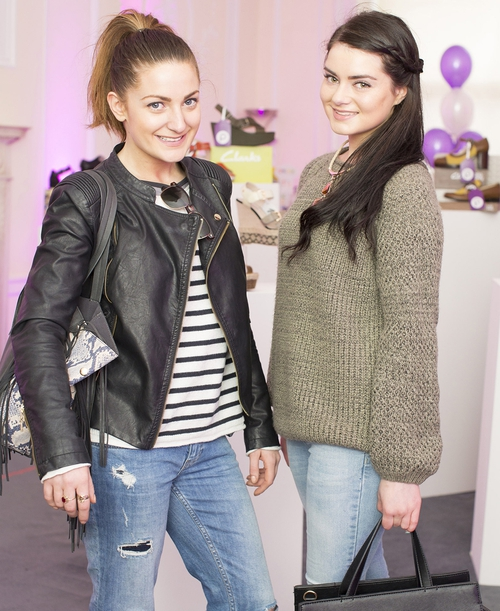 Courtney Smith and Megan Turner at the launch of PurpleTag.ie